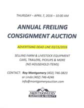 Frieling Annual Consignment Auction